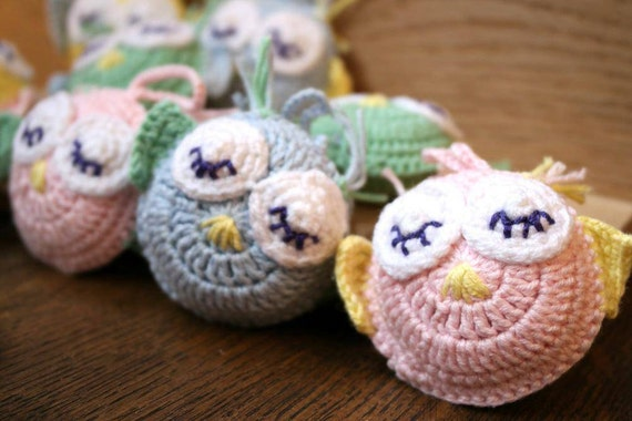 Amigurumi Sleepy Owl Small Knit Stuffed Owl by ...
