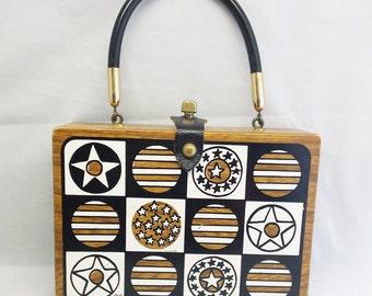 Vintage Enid Collins of Texas Stars Box Bag Purse