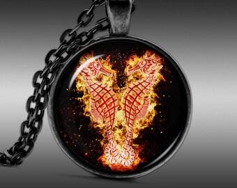 Sea Horse Jewelry,  Fire Necklace, Atlantic Pendant  Necklaces Pendants Jewellery  FRW192