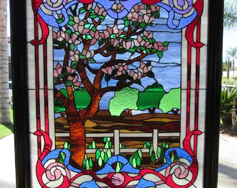 Magnolia tree, Tiffany reproduction