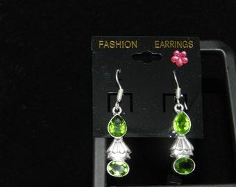 CLEARANCE *Peridot Charm Earrings