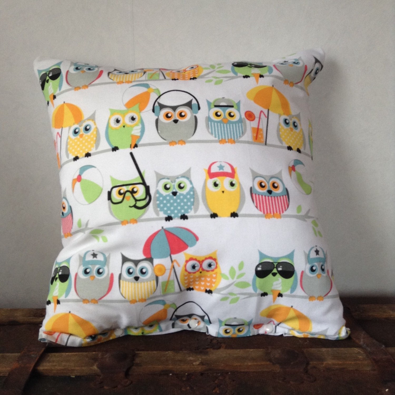 Owl Throw Pillow Covers : Cute owl pillow cover for throw pillows accent by leonorafi