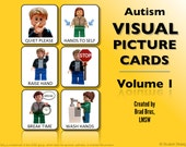 Visual Picture Cards for Children With Autism