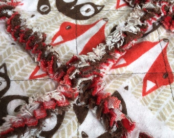 Fox Patterned Baby Blankets