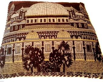 "Brown Pillow case Cover Jerusalem Old City Home Decor Holyland Israel 15.7"""