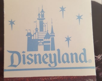 1980s Disney land original vintage book of matches