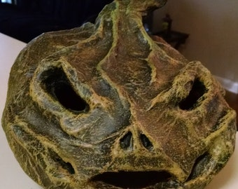Handcrafted Paper Maché Ghoul Pumpkin Jack O' Lantern Halloween Scary Decoration