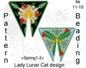 Triangle Peyote pattern Spring 1-2 scheme for beading