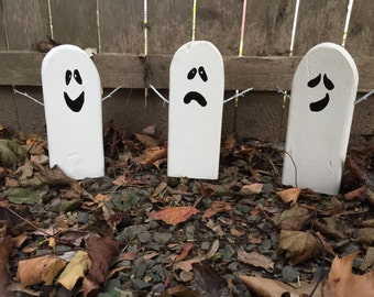 Halloween Decoration Reclaimed Wood Ghosts
