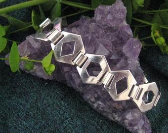 Modernist Sterling Silver Bracelet