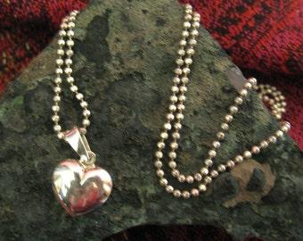 Little silver heart pendant