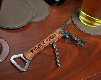 Engraved Bottle Opener, Custom Bottle Opener, Engraved Wood Bottle Opener,Personalized Bottle Opener, Engraved Opener --BO-WOOD-fernandez