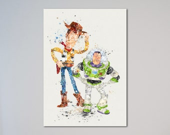 Toy Story Woody and Buzz Poster Print