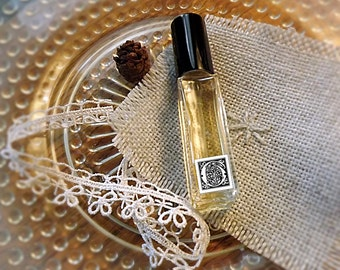 """Perfume Spray Vanilla and Woods Fruit Resins """"Alone in the Forest"""" Tree fruit Resin Vanilla BoHo Perfume .33 oz or 10 ml"""