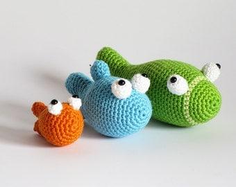 PDF crochet pattern 3 fish