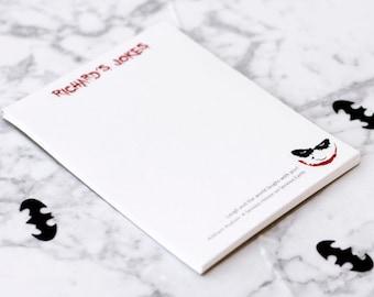 The Joker from Dark Knight Custom Note Pad | Batman DC Comics