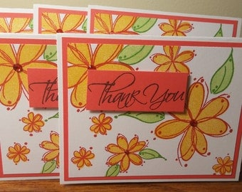 Thank You Greeting Cards Set of 5