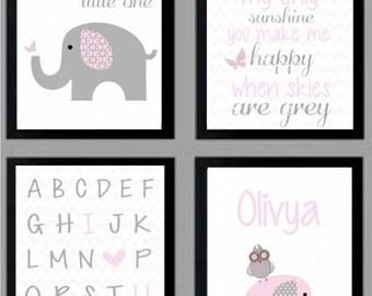 Baby Girl Nursery Art - 8.5x11