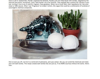 Bath Bomb Recipe- Make Your Own Natural Bath Bombs PDF