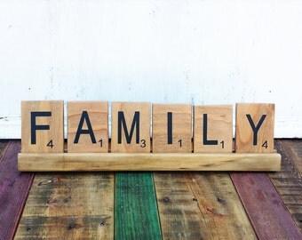 Scrabble wall art, Scrabble tiles, Scrabble Wall Tiles, Large Scrabble Tiles, Family Scrabble Art