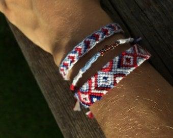 4th of July Friendship Bracelets- 3 Different Patterns