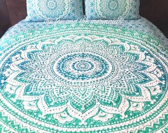Boho quilt | Etsy : mandala quilts - Adamdwight.com