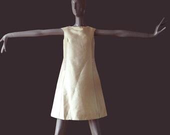 original 1960s  beaded shantung silk dress