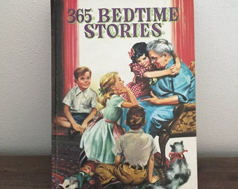 365 Bedtime Stories by Ray Quigley; Children's Stories; Vintage Book; Children's Book; Bedtime Stories Book