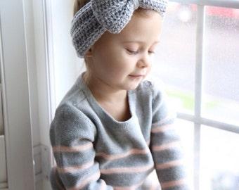 Crochet Bow Headband (infant - adult)