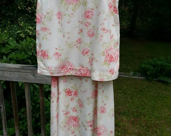 Vintage Roses print 2 piece dress from Lord And Taylor
