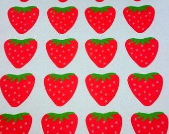 Printed felt,Strawberry felt,sheets squares felt,felt fabric sheet,Craft felt,Felt sheets,polyester felt,birthday,Strawberry,