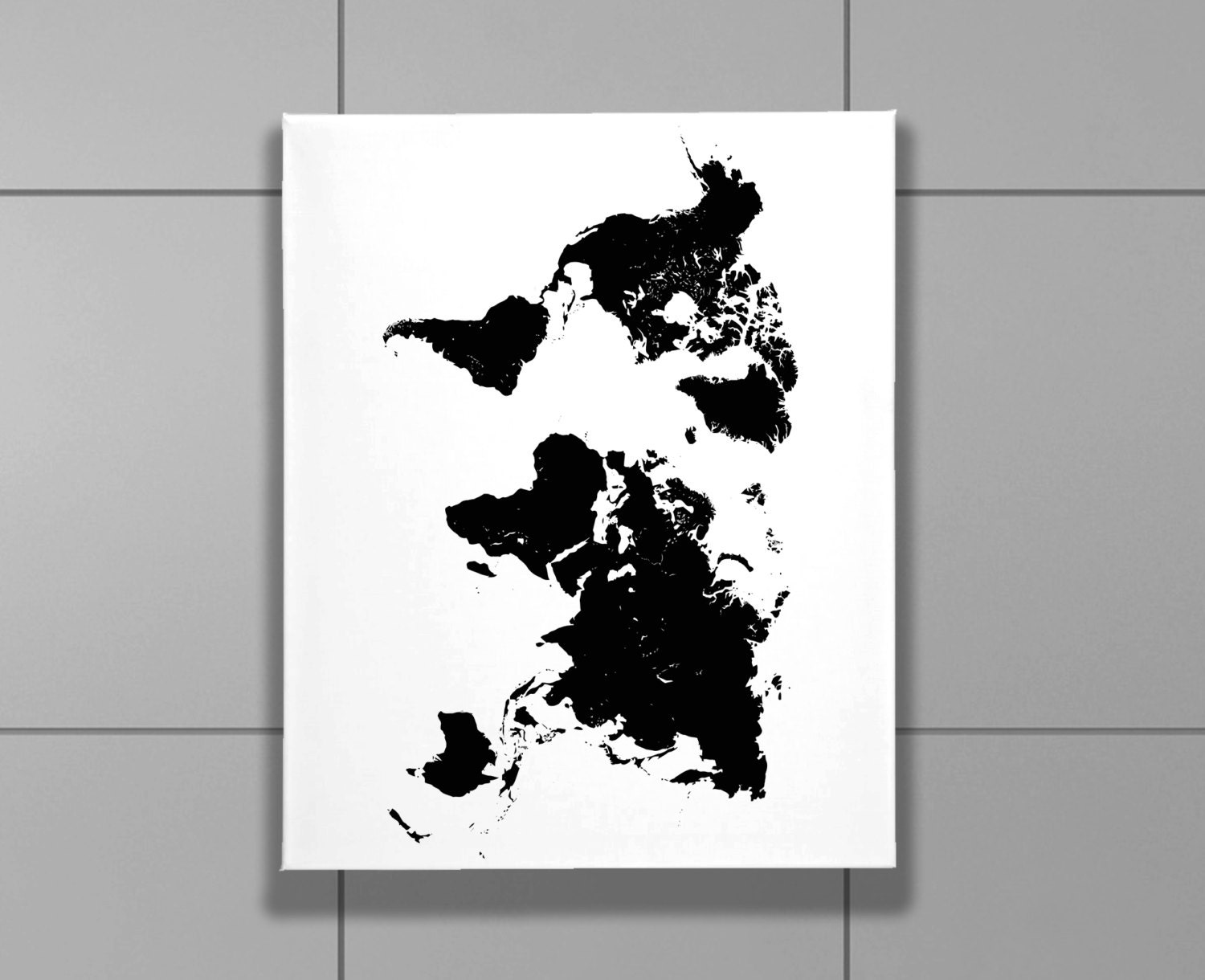 Wrap canvas print 8 x 10 black and white printed world map travel wrap canvas print 8 x 10 black and white printed world map travel bedroom gumiabroncs Choice Image
