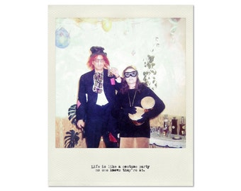 Costume Party, Polaroid-Type Print, Vintage Typewriter Text, Costumes, Fine Art, 8x10, 11x14, 16x20, 24x30, Metal, Wood, Canvas