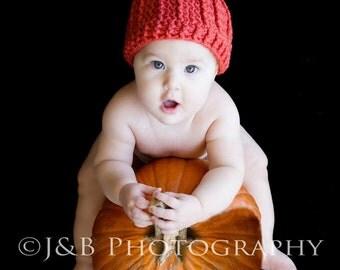 Crocheted Pumpkin Beanie