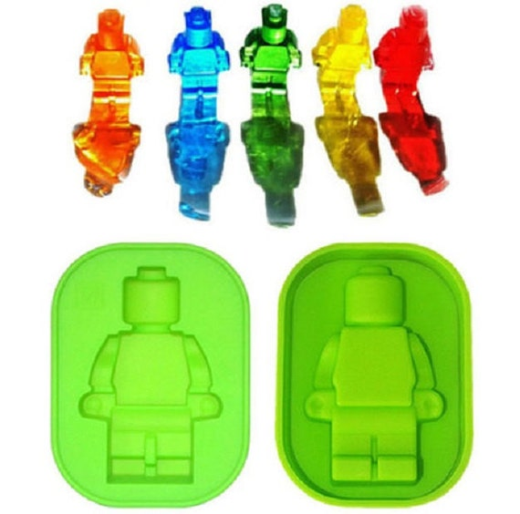 "Lego Man Mold, 3.75"" Minifigure Lego Ice Mold, Robot Lego, Man Ice ..."