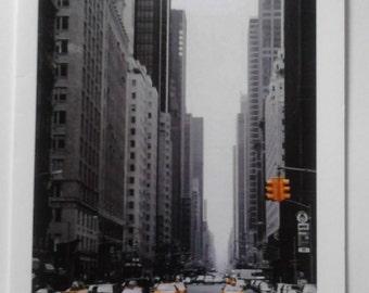 New York themed greeting card A6 blank inside