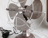 1950's Westinghouse Fan Midcentury Original Vintage Cat. No. 10 LA 4  Made in USA Adjustable and Working