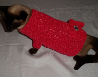 CAT SWEATER. Hand knitted.