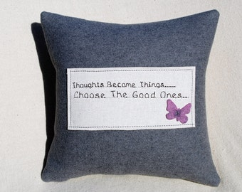 Cushions inspirational quote  with lovely butterfly detail