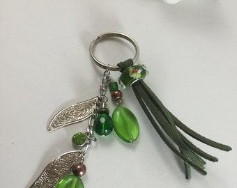 AMAZON - Inspired by the beauty of the Amazon forest green keychain