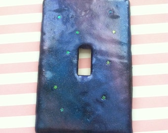 galaxy light switch plate