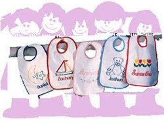 Embroidered Personalized Terry Cloth Bib