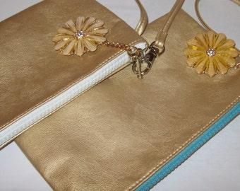 Susan Leccese Designs Ltd wristlet gold bag