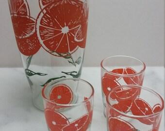 Vitage Swanky Swigs, Jug, Orange Design
