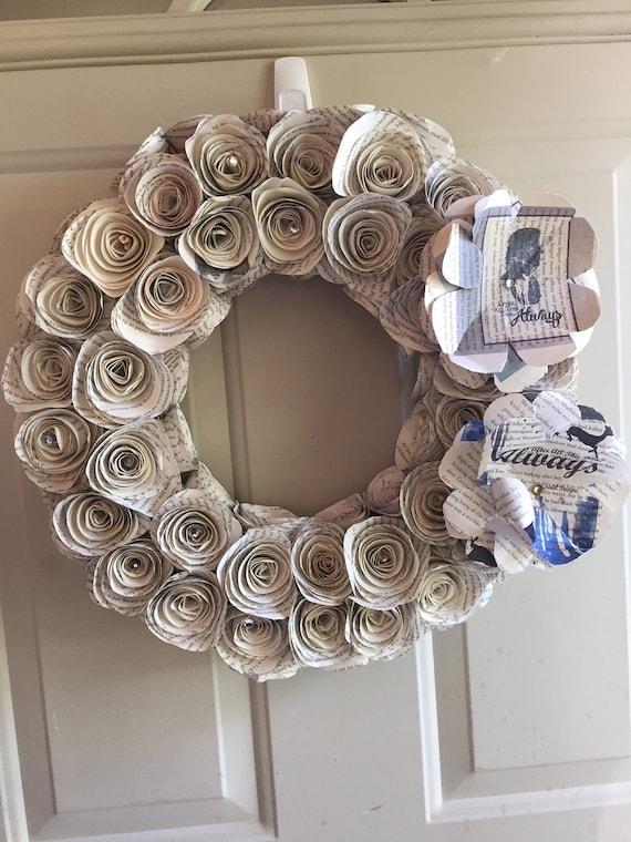 harry potter wreath home decor hp fan gift harry potter. Black Bedroom Furniture Sets. Home Design Ideas