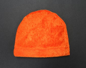 Infant shiny orange hat