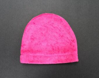 Infant shiny pink hat