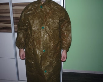 Vintage Military Chemical Raincoat, Army Raincoat with Boots and Gloves, Vintage Poncho, Unused Condition, Cold War Soviet union 1970s