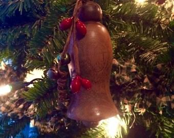 Handmade Wooden Bell Ornament