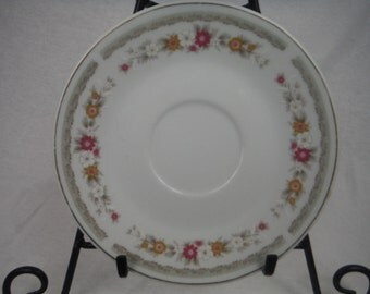 1960s - NAPCO Floral Saucer - Antique, Vintage, Usable, Decorum, Collectible